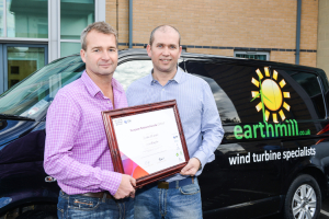 Mark Woodward & Steve Milner with their European Business Award
