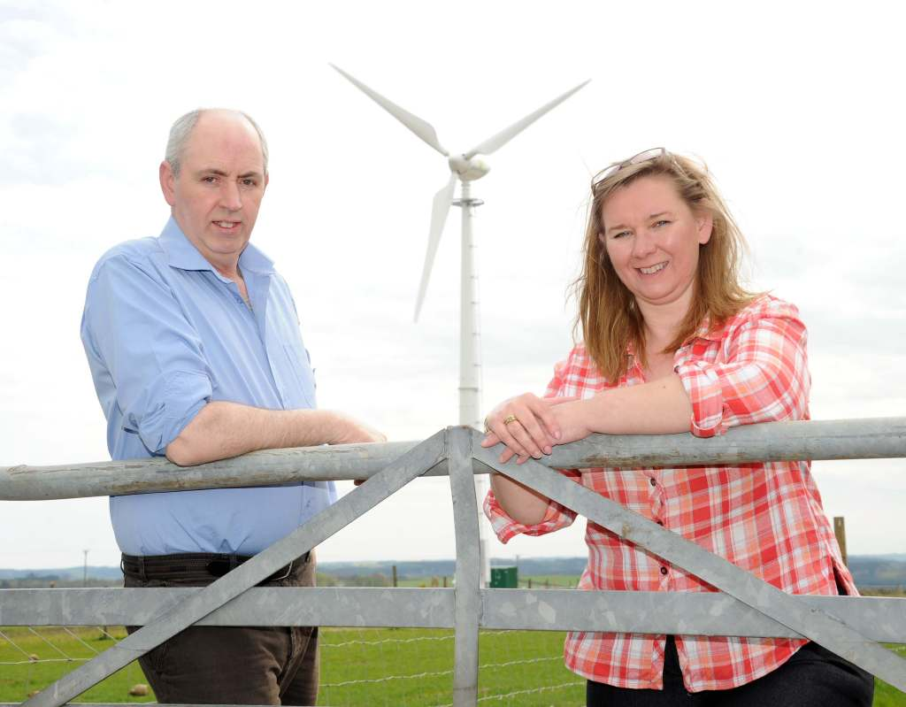 Roger Glennie and Jean Arnott at their farm in Methlick, Aberdeenshire