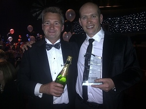 Mark Woodward & Steve Milner accept their Ackril Business Award