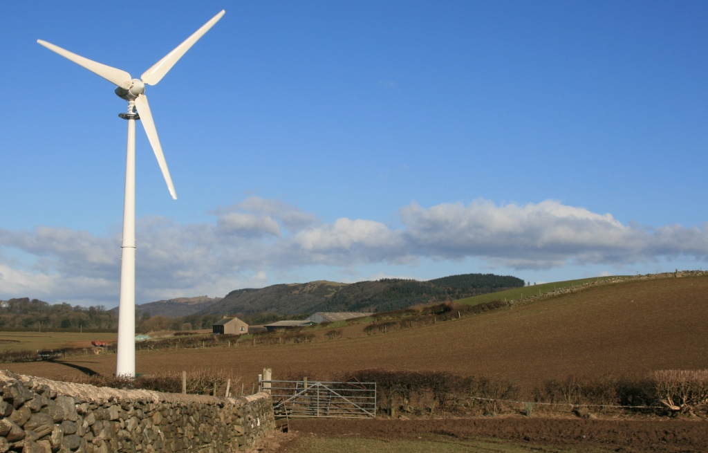 E-3120 wind turbine in Grange-over-Sands, Flookburgh