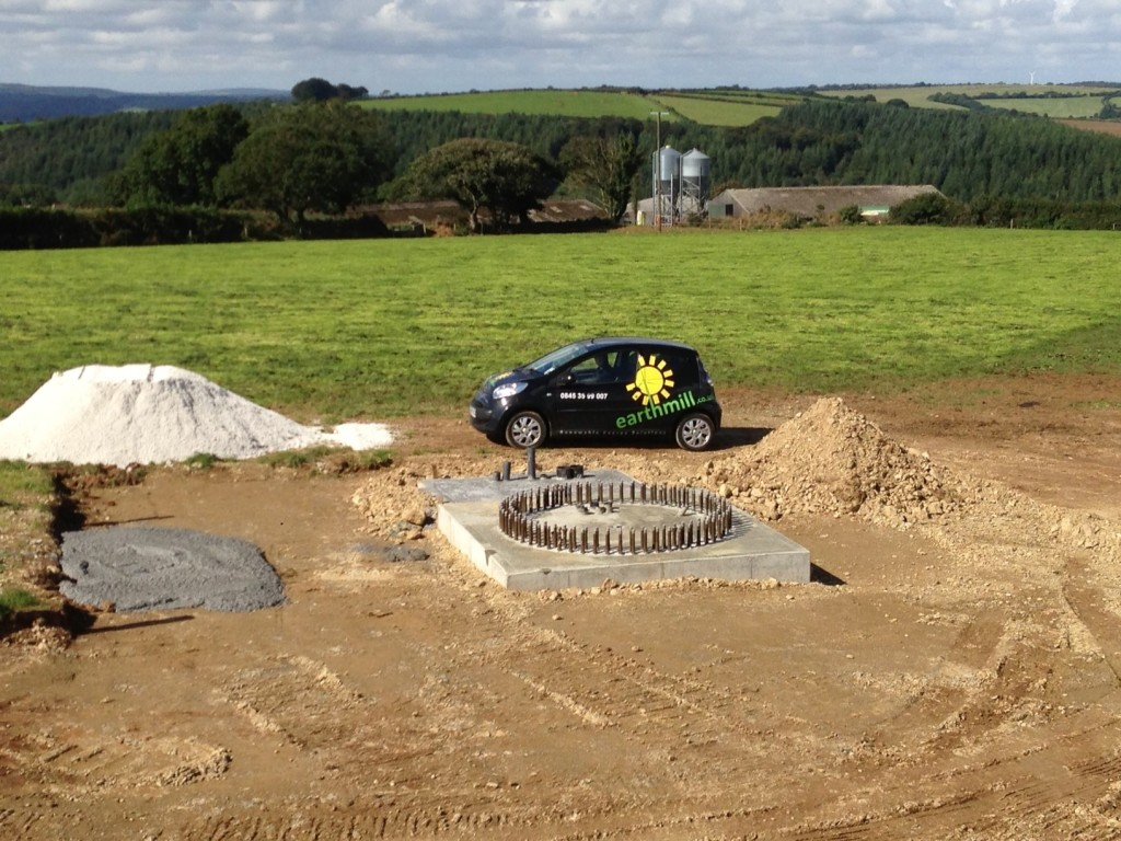 Foundations for the UK's first X29 in Cornwall